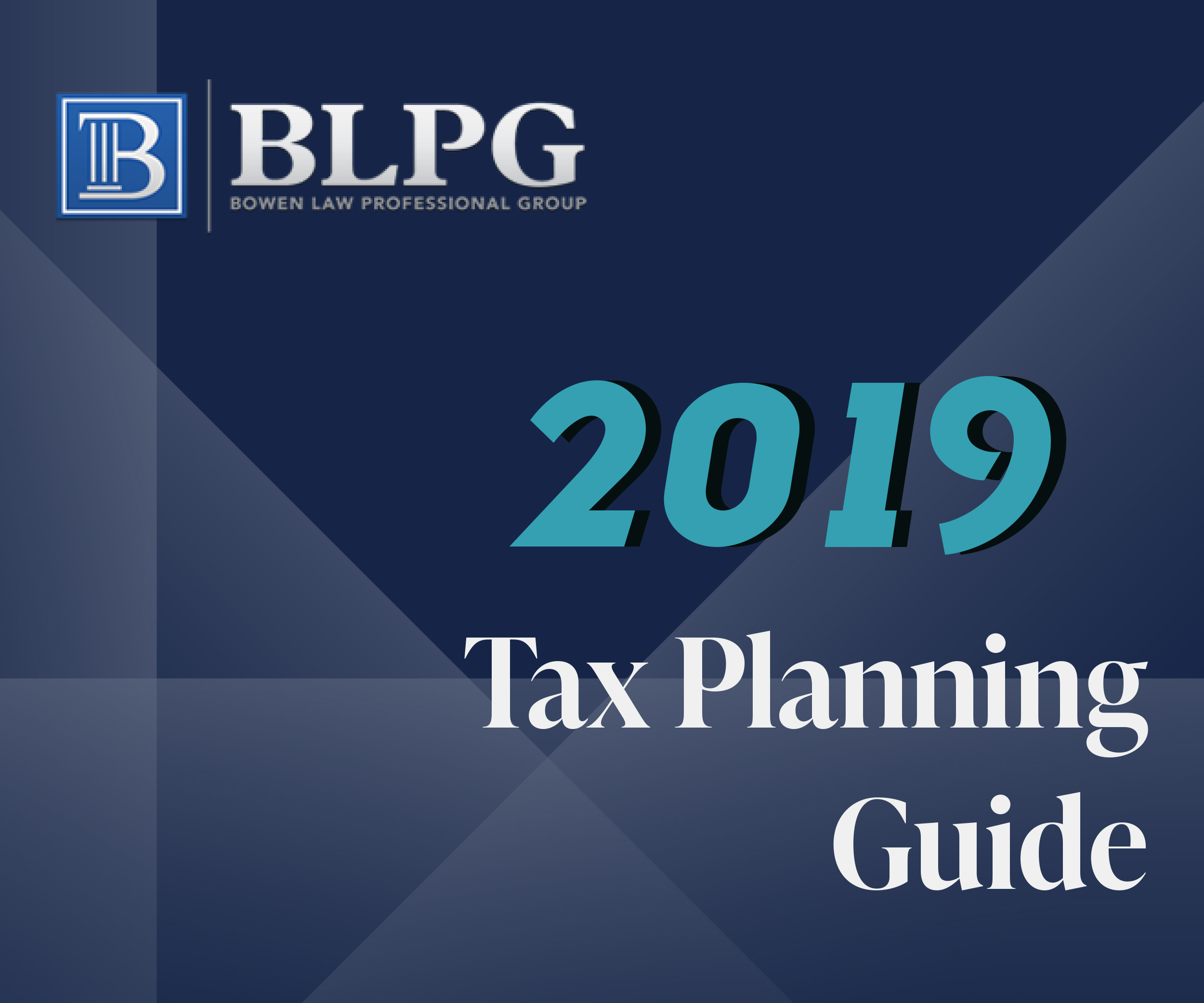 Tax Planning Guide 2019