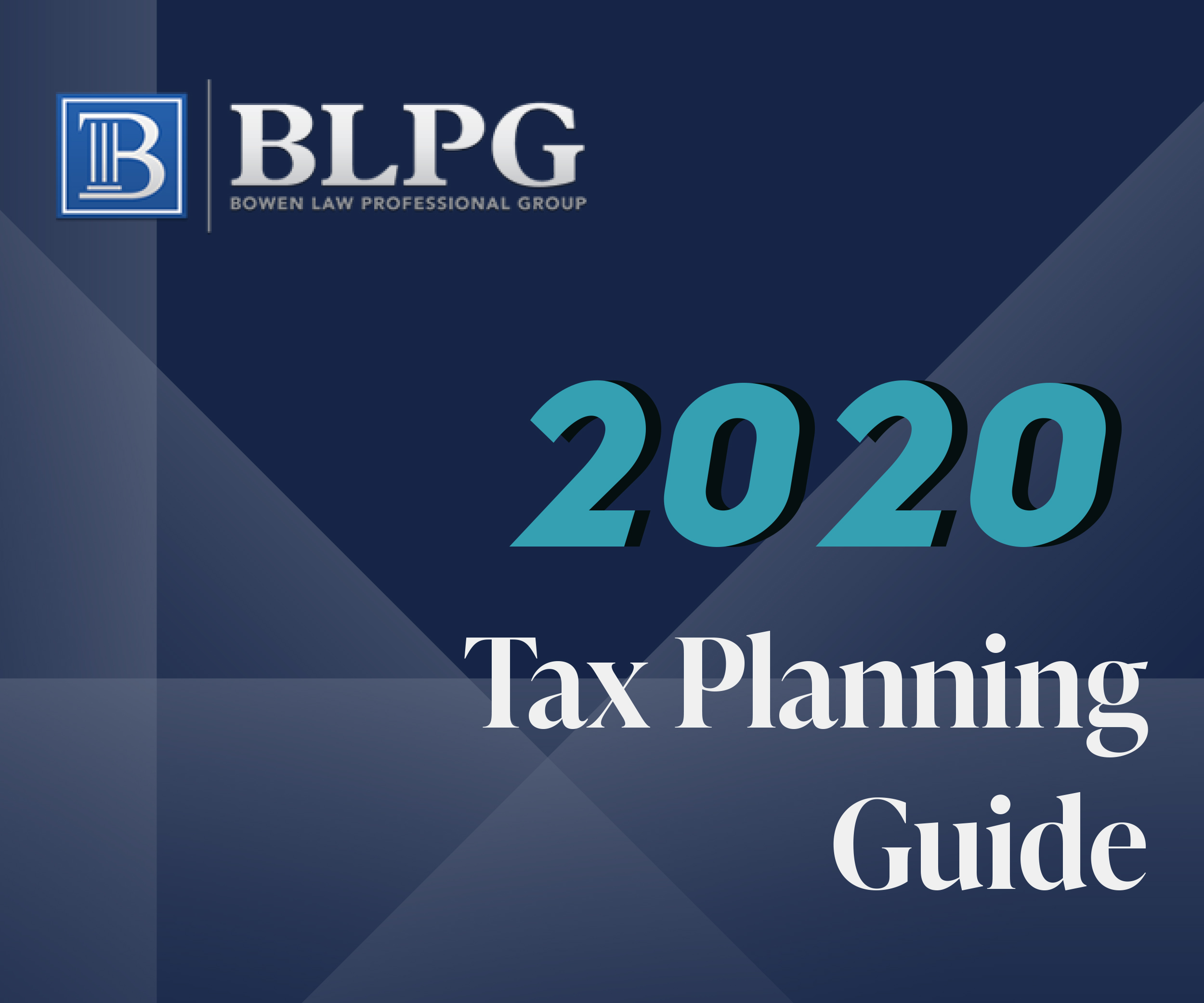 Tax Planning Guide 2020